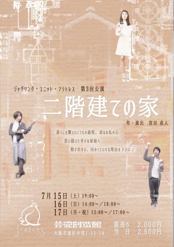 ジャグリング・ユニット・フラトレス第3回公演「二階建ての家」
